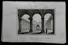 ROMA= CASSINO, VEDUTA INTER.MONASTERO-ABBAZIA=LAMAITRE.ITALIA LAZIO.Artaud.1835.