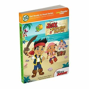 LeapFrog-LeapReader-Book-Disney-Jake-and-the-Never-Land-Pirates-Ages-2-New-Toy