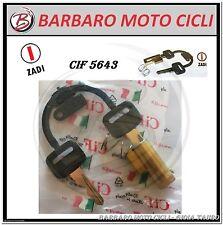 KIT SERRATURE BLOCCASTERZO PIAGGIO SI CIAO BRAVO BOXER  GUIDA SOTTILE 4 mm.