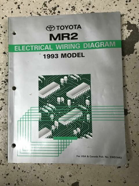 1993 Toyota Mr2 Electrical Wiring Diagram Ewd Evtm Service