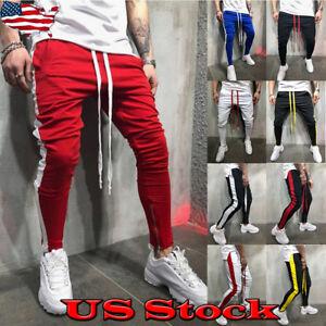 US-Men-039-s-Casual-Long-Pants-Gym-Slim-Fit-Trousers-Running-Jogger-Sport-Sweatpants