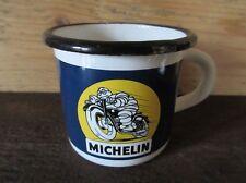 Tasse à café Mug plaque émaillée Bibendum MICHELIN moto emailschild enamel cup