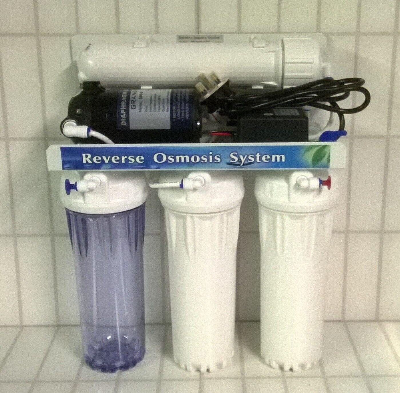 L27 Pumped aquarium 4 Stage Reverse Osmosis RO DI unit  50 100 150gpd membrane