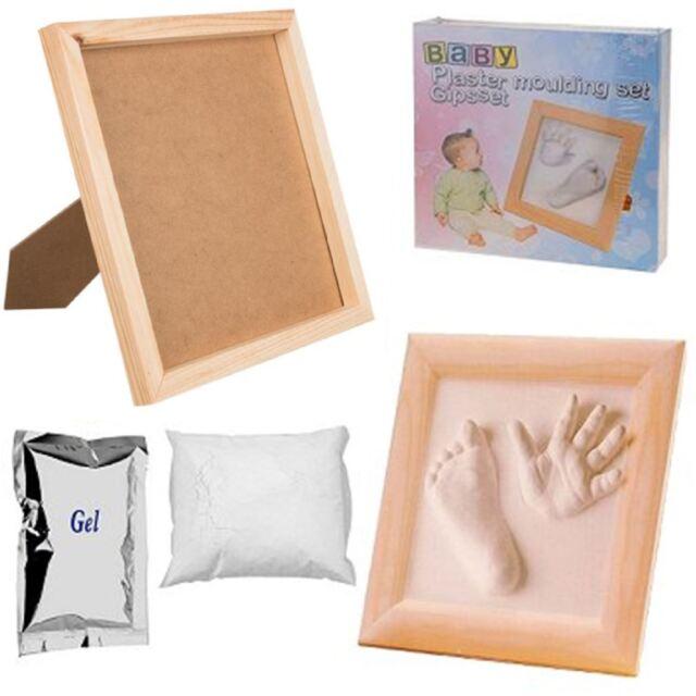 Welp Baby Casting Kit 3d Hand Foot Feet Print Plaster Moulding Wooden TD-83