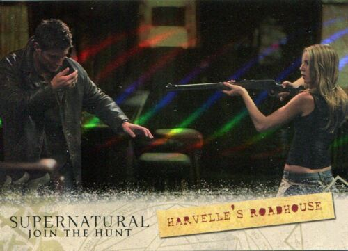 Supernatural Seasons 13 Locations Chase Card Parallel Gold L04 Harvelle's Road