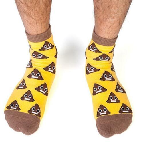 Poo Emoji Sh#t Happens Sockskoolface non-slip non slip soles