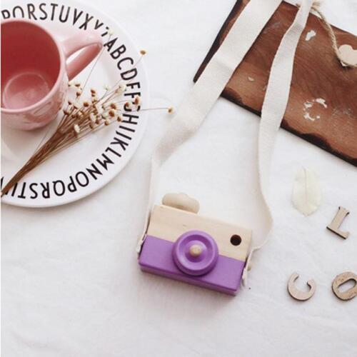 Cute Wooden Toys Camera Baby Kids Hanging Camera Photography Prop Decor LA