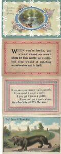 Vintage-Assorted-Greetings-Postcards-Circa-1800-039-s-1900-039-s-Lot-of-5