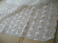 Designer White Lace Organza Embroidered Scalloped Fancy Crafts Bridal Wedding