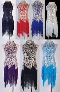 1920-039-s-Flapper-Dress-White-Clubwear-Great-Gatsby-Sequin-Tassel-One-Size-AF-3225