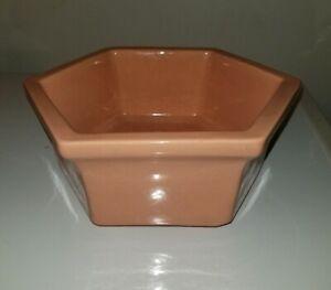 Vintage-Haeger-USA-4003-Pottery-Hexagonal-Planter-Pink-Mauve-Retro