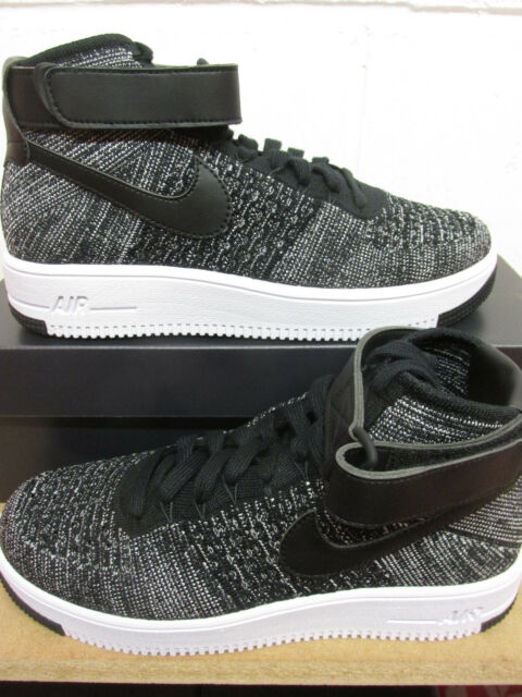 e04aef5db Nike Af1 Ultra Flyknit Mid Air Force 1 Black White Men Casual Shoes ...