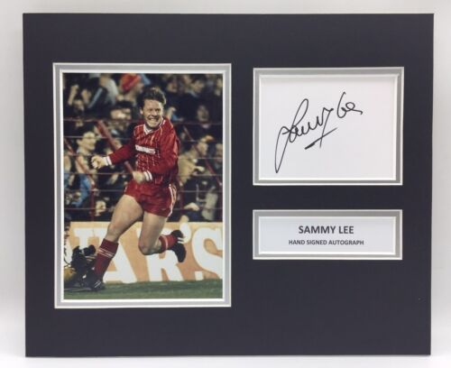 RARE Sammy Lee Liverpool Signed Photo Display + COA AUTOGRAPH 1978 1981 1984