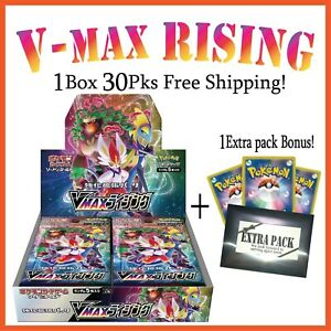 "Pokemon Card Game Expansion /""VMAX RISING/"" Sealed Booster Box 31Packs S1a TCG"