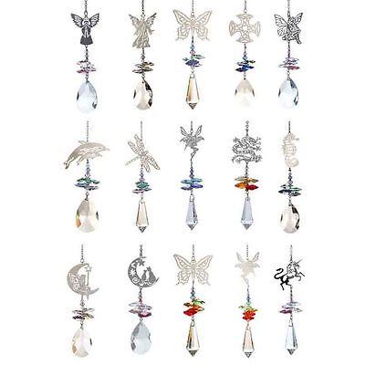 Silver Motif & Swarovski Element Hanging Crystal Rainbow Suncatcher & Gift Bag
