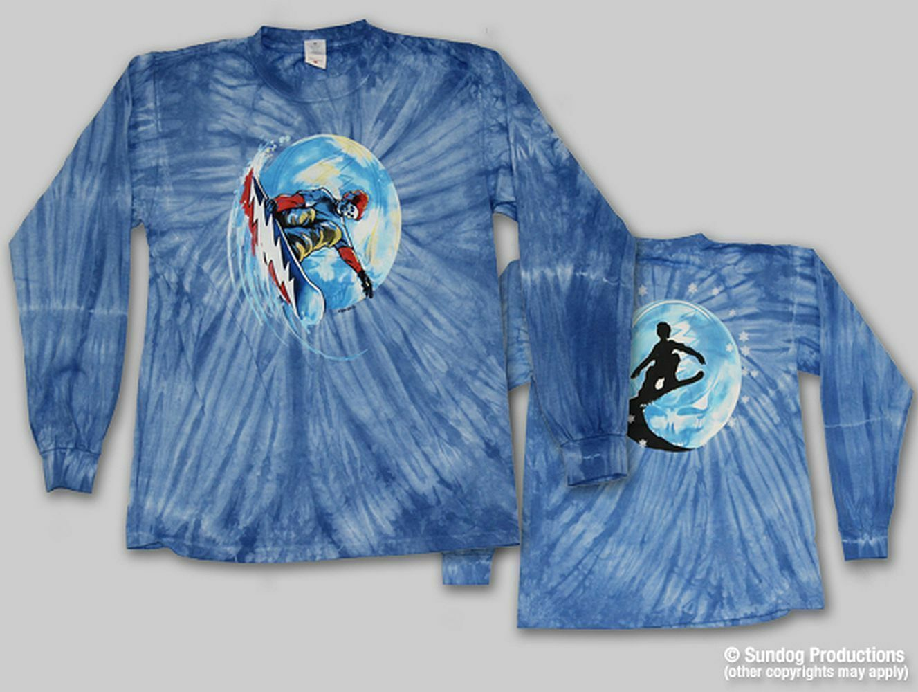 Grateful Dead  Grateful Shred  Double Sided  Long Sleeve T-Shirt - FREE SHIPPING