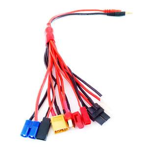 Adaptador-de-cargador-Dean-EC3-Tamiya-TRX-XT60-JST-Futaba-4-0mm-golden-conector