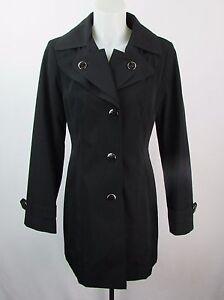 S noir boutonné pour taille femmes Manteau Trench coat Klein Calvin nwxBz1Bq