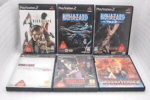 PS2-6-Games-Set-BIOHAZARD-4-Code-Veronica-OUTBREAK-1-2-GUN-SURVIVOR-2-amp-4-Japan