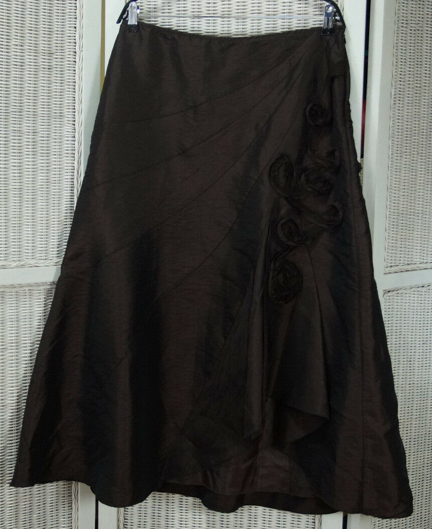 PER UNA Long Skirt 34 W 16R Assymetrical Full Shimmery Flared Maxi Skirt 35 L