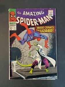 AMAZING-SPIDER-MAN-44-2-5-GD-2ND-APP-LIZARD-UNPRESSED-MARVEL-SILVER-COMIC