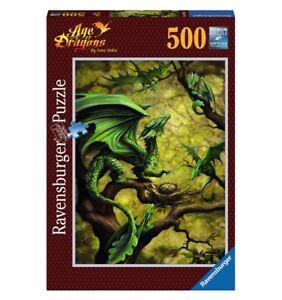 ANNE STOKES - WALDDRACHE * FOREST DRAGON - Ravensburger Puzzle 14789 - 500 Pcs.