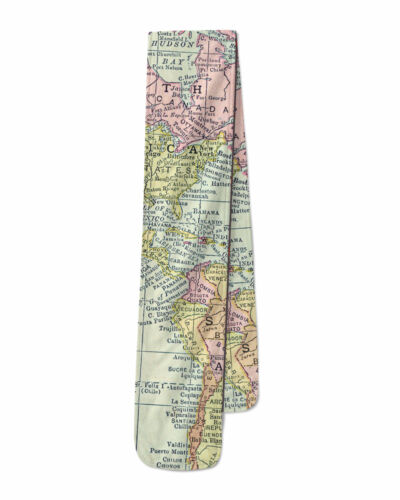 Antique World Map 1913 Fleece Scarf Warm for Winter Faux Fur