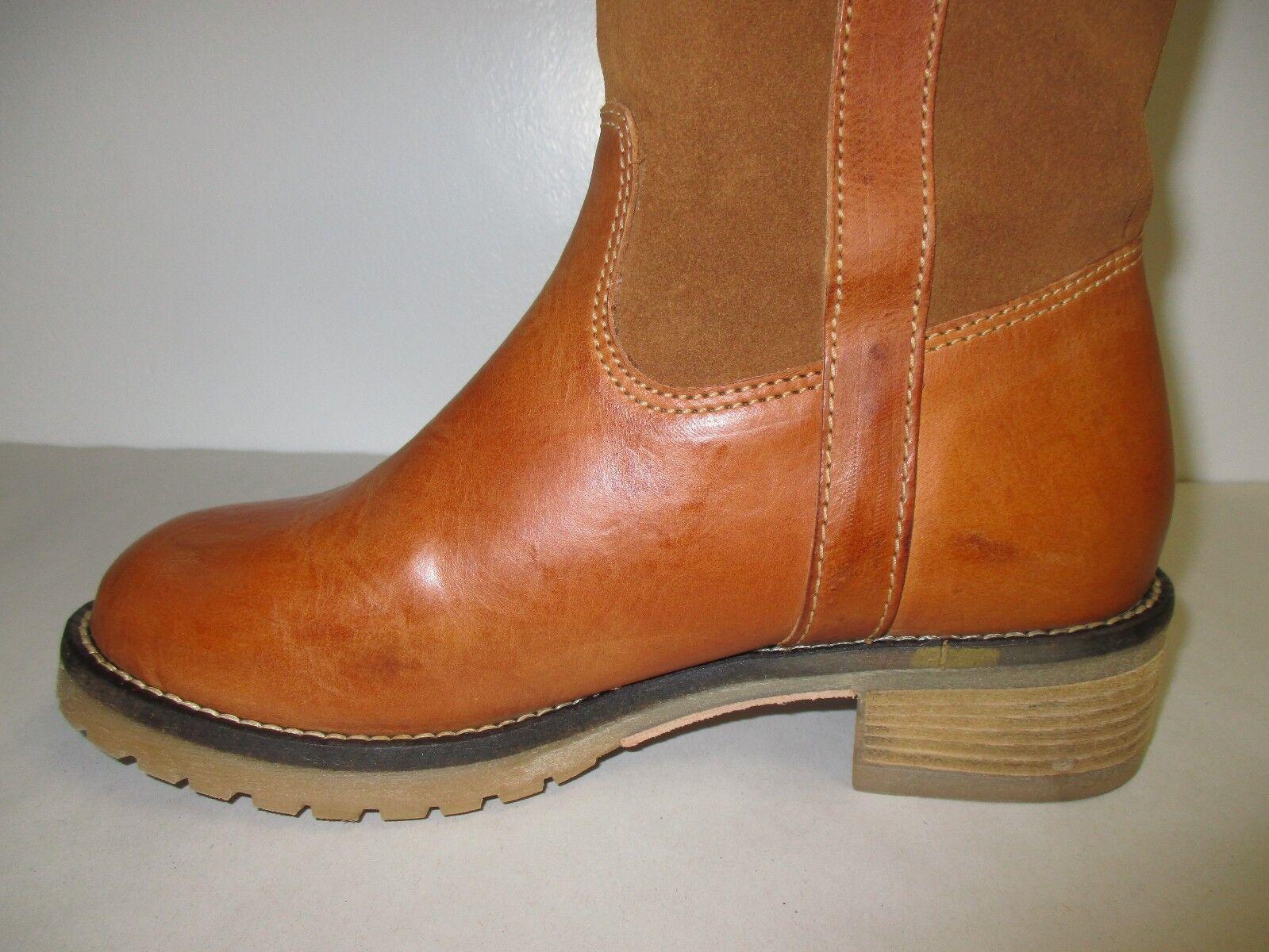 Sbicca Größe 7 JAVAN Tan Leder Suede Knee High Stiefel NEU Damenschuhe Schuhes