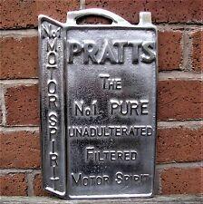 Pratts Oil Can Motor Spirit sign cast aluminium advertising petrol polish VAC214