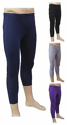 CHEX Cotton Lycra 3//4 Leggings Premium Mens Training Fitness Yoga Running Purple