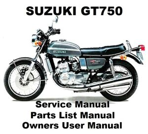 Details about SUZUKI GT750 - Owners Workshop Service Repair Parts List  Manual PDF on CD-R