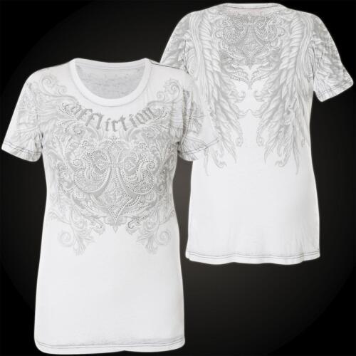 Weiß shirt Affliction Damen T Filson wqZpfOC