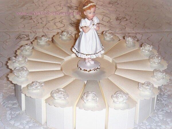 Schöne Gastgeschenke Torte zur Kommunion Mädchen GG0006