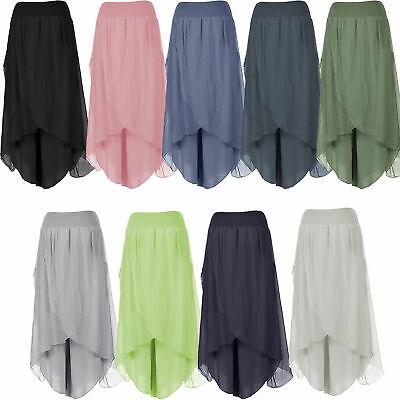 Womens Italian Lagenlook Layering Silk WrapOver Baggy Plain Harem Trousers Pants