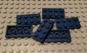 Lego 2x8 Plate Dark Blue Lot of 2 New