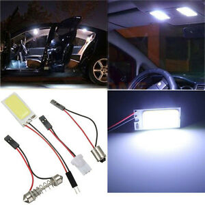 Hid-White-24Cob-Led-Panel-Light-For-Car-Interior-Door-Trunk-Map-Dome-Light-IY