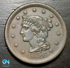 1856-Braided-Hair-Large-Cent-MAKE-US-AN-OFFER-B6237