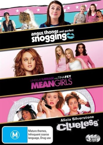 1 of 1 - Angus, Thongs And Perfect Snogging / Mean Girls / Clueless DVD 3-Disc Set