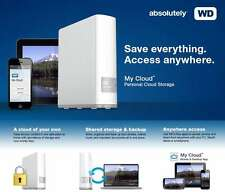 WD MY Cloud 2TB, 3TB, 4TB, 6TB, 8TB, Personal Network Attached Storage -NAS