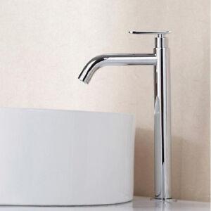 Details zu 30cm Hoch Waschtischarmatur Bad Waschbecken Wasserhahn  Kaltwasser Armatur Chrom