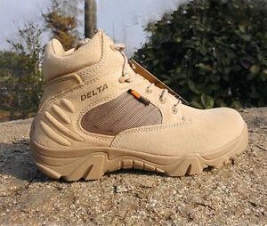 Military wandelschoenen top laarzen Delta Desert Combat Hoge Tactical Army lederen p4IUSqyw