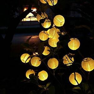 102030led Solar Lampion Lichterkette Garten Kette Laterne Lichter