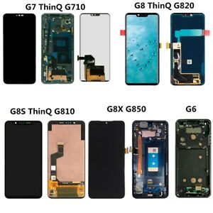 LCD Touch Screen Digitizer Frame For LG G6 G7 G8 ThinQ G8s G8X G710 G810 G850