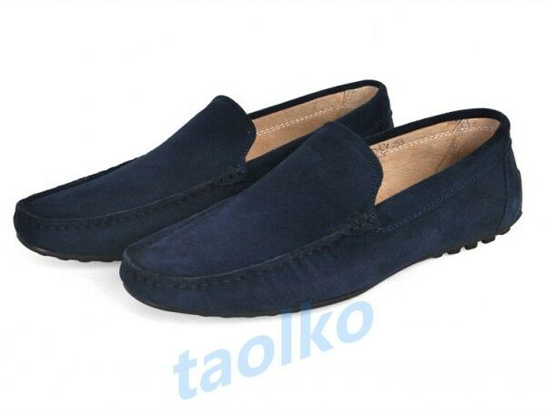 Fashion Men's Slip On Casual Loafers Moccasins Driving Soft Suede Comfy Shoes