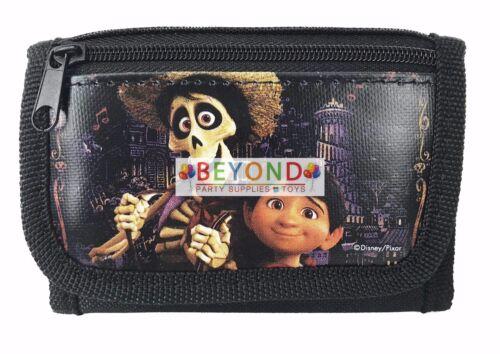 COCO Wallet Disney COCO Wallet Kids Boys Black Tri-Fold Wallet 15A-CC-C