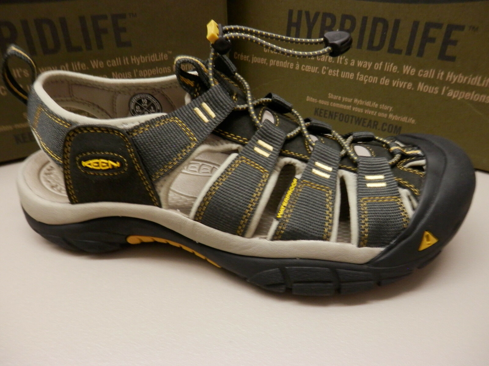 Sandali e scarpe per il mare da uomo KEEN uomoS SANDALS NEWPORT H2 RAVEN ALUMINUM SIZE 10.5