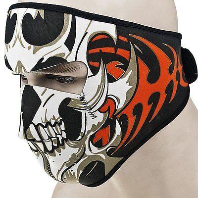 Warm Motorcycle Bike Cycling Half Face Mask Skull Ski Snow Headwear Neoprene