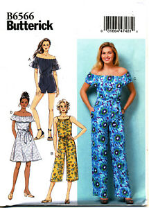 Butterick Sewing Pattern 6566 Misses 16 26 Easy Dress Jumpsuit