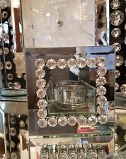 mirror and diamonds tealight holder candles wedding home bling romany candles