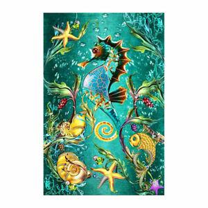 Diy-Diamond-Embroidery-5D-Full-Square-Diamond-Painting-Sea-Horse-Cross-StitP9M2